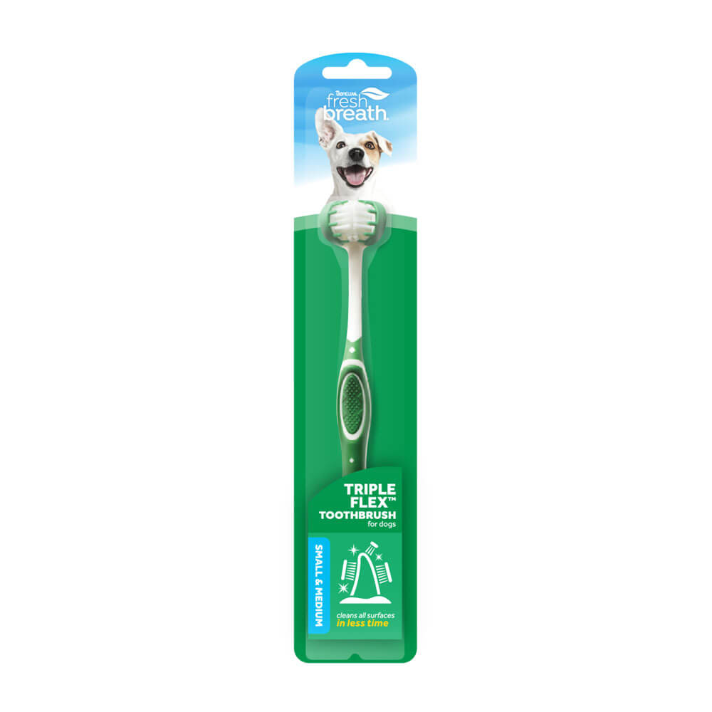 TropiClean Fresh Breath TripleFlex Toothbrush for Small Dogs