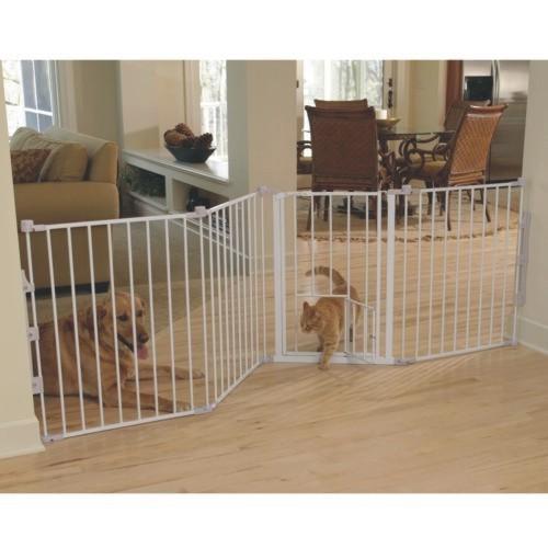 SDISC Flexi Walk-Thru Metal Gate with Small Pet Door