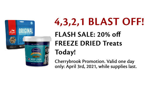 20% off Freeze-Dried Treats April 3 Only