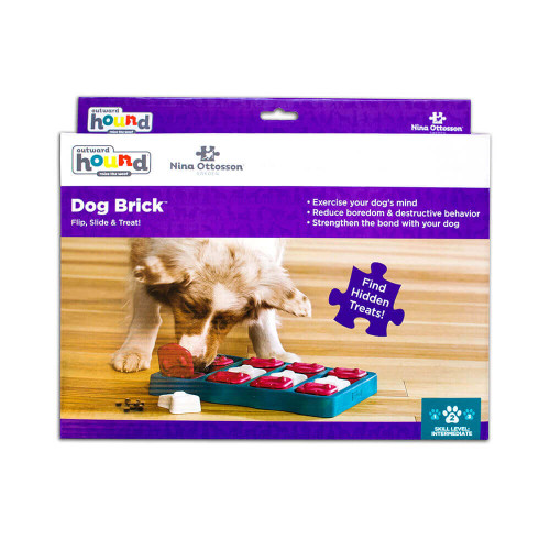 Outward Hound Brick Blue Puzzle for Dogs