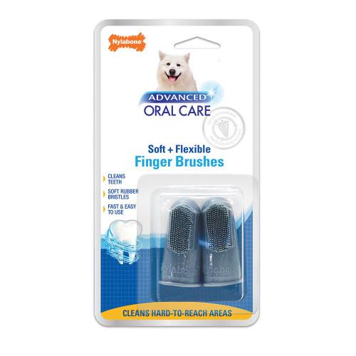 Nylabone Advanced Oral Care Finger Brush 2 pack