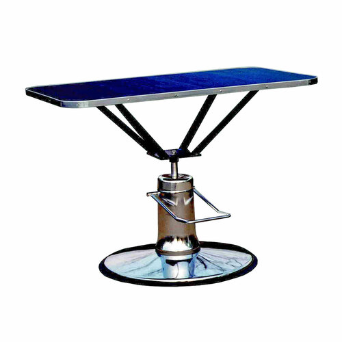 Hydraulic Table 24 x 36 Top / Round Base - Champagne