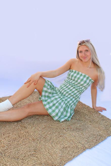 Cherelle Dress in Juniper