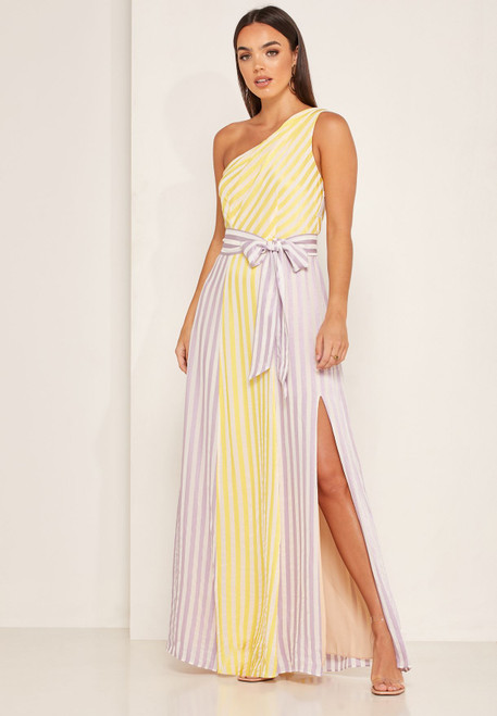 Kinsley Maxi Dress in Lavender Lemonade -Foxiedox