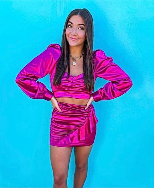 Satin Sweetheart Skirt Set