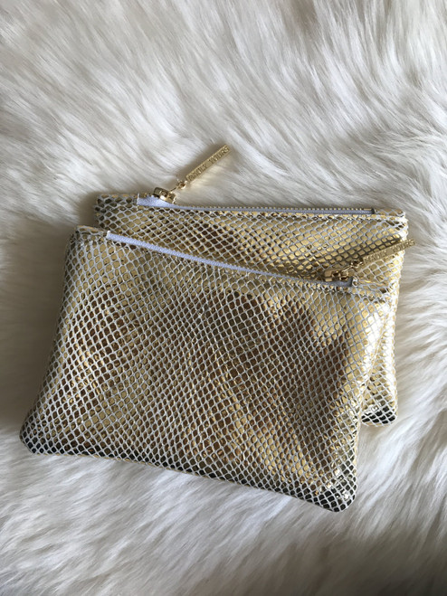 Madly Yours Gold Mini pouch