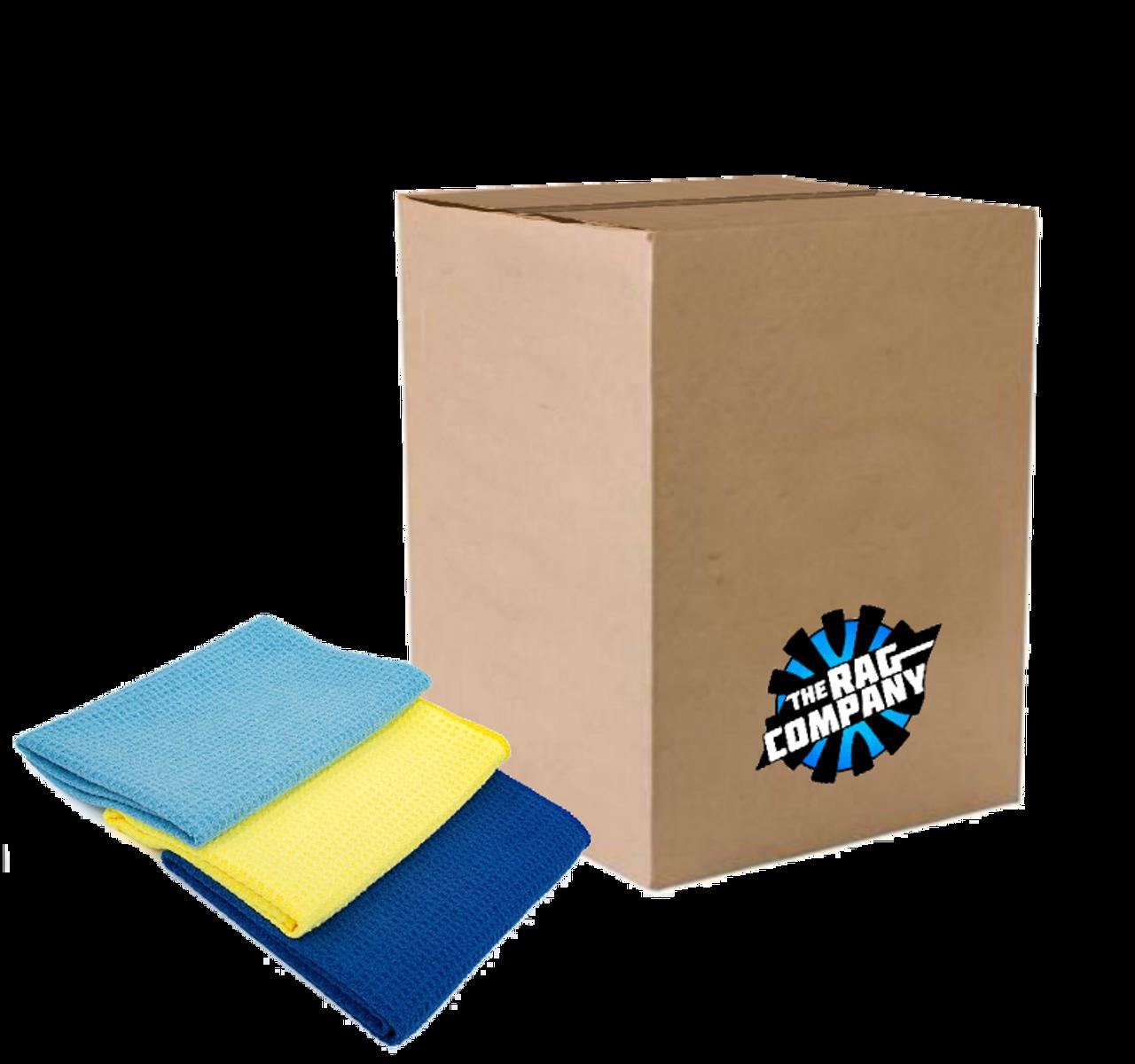 24 16x16 Premium Waffle Weave Towels Cleaning//Detailing Towels 370GSM Orange