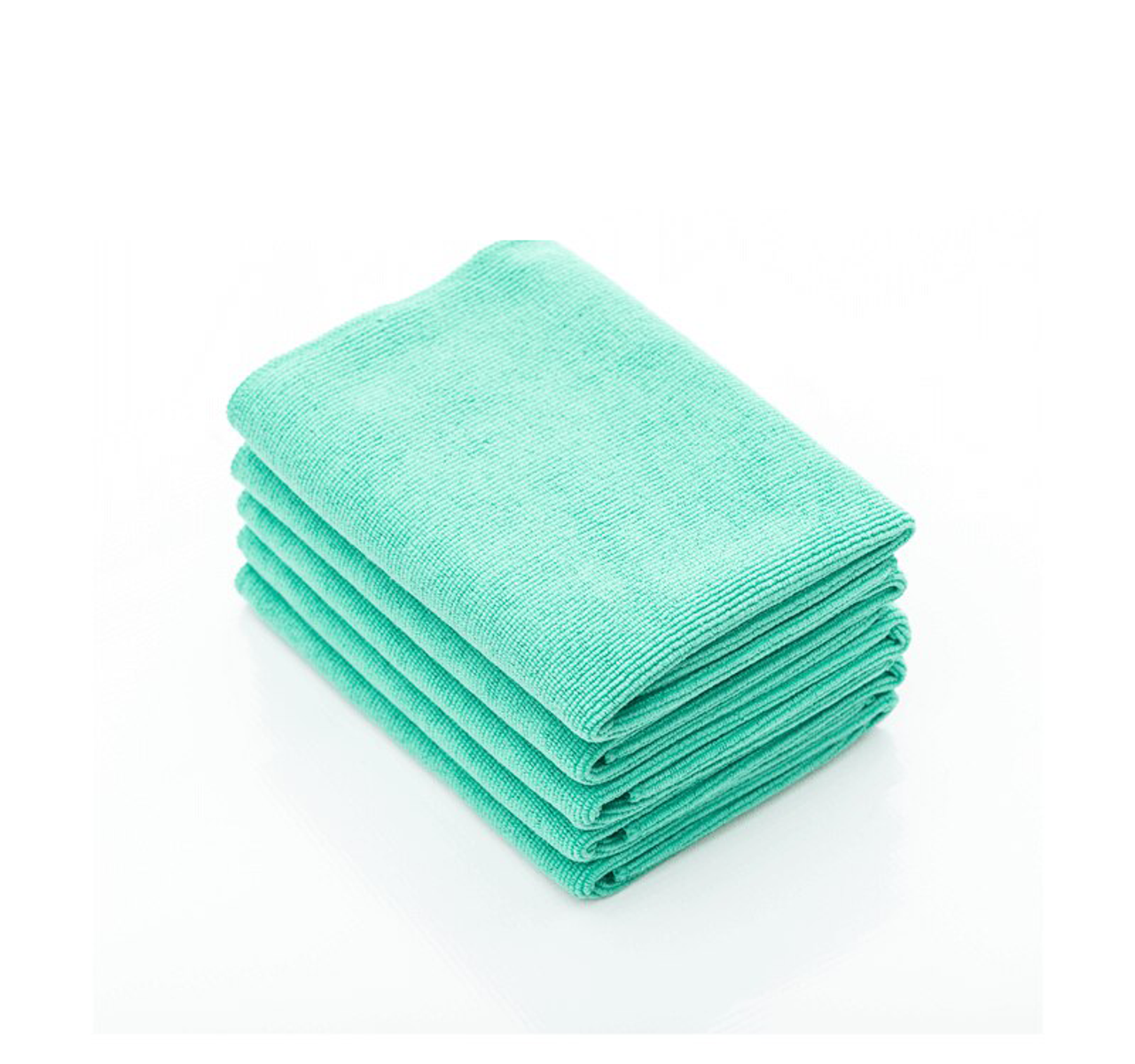The Rag Company 16 in x 16 in 16x16, Green The Pearl Professional Microfiber Ceramic Coating//Sealant//Interior Detailing Towels 320gsm Pearl-Weave 5-Pack