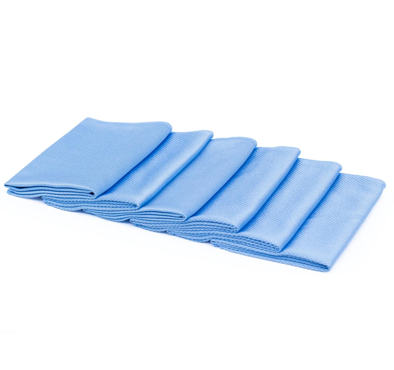 Microfibre Waffle Cloths 40x40cm Pack of 10 Blue