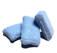 2 X 4 MICROFIBER TERRY DETAILING SPONGE APPLICATOR - BLUE (6024-SPONGE-BLUE)