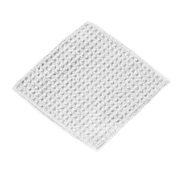 MICROFIBER 4 X 4 WAFFLE WEAVE MAKEUP REMOVAL CLOTH - WHITE (50404-WW-WHITE)