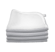 PREMIUM 12 X 12 WAFFLE-WEAVE FACIAL & SPA CLOTH WITH SILKY SATIN EDGE (41212-WW-FACIAL-W)