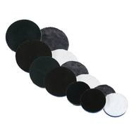 LAKE COUNTRY MICROFIBER CUTTING & POLISHING PADS (NO CENTER HOLE) (9MF-MICROFIBER-PADS)