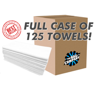 CASE WHITE SPA/ WORKOUT 16 X 27 MICROFIBER TOWEL (125 COUNT) (51627-SPA-WHITE-CASE)