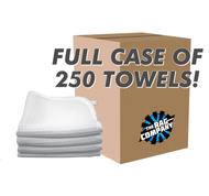 CASE WHITE 12 X 12 WAFFLE-WEAVE FACIAL CLOTH (250 COUNT) (41212-WW-FACIAL-W-CASE)