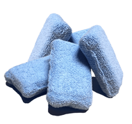 VALUE BUNDLE BLUE 2 X 4 MICROFIBER TERRY SPONGE APPLICATOR 5-PACK (6024-SPONGE-BLUE-BUNDLE)