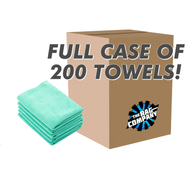 CASE GREEN THE PEARL 16 X 16 MICROFIBER TOWEL 320 GSM (200 COUNT) (51616-PEARL-GRN-CASE)