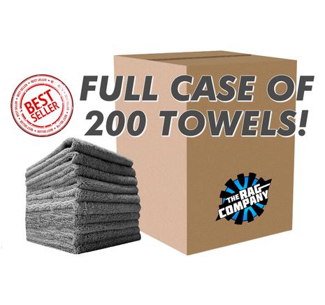CASE EDGELESS MINER 16 X 16 METAL TOWEL (200 COUNT) (51616-MINER-GREY-CASE)