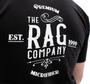 The Rag Company Whiskey Unisex Black T-Shirt - Back of Shirt