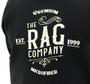 The Rag Company Whiskey Unisex Black Hoodie - Back
