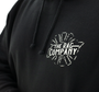 The Rag Company Whiskey Unisex Black Hoodie - Front