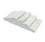 Four Custom 4x4 Edgeless Pearl Towels Included