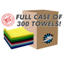 CASE EDGELESS 245 ALL-PURPOSE 16 X 16 TERRY TOWEL (300 COUNT) (51616-E245-CASE)