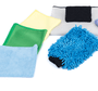 "1 - Chenille Microfiber Wash Mitt [Washing], 1 - 25"" x 36"" The Big One Waffle-Weave Drying Towel [Drying], 1 - 16"" x 16"" Standard Waffle-Weave Towel [Glass / Detailing], 1 - 16"" x 16"" EDGELESS 245 Terry Towel [Interior], 1 - 16"" x 16"" Green Glass Towel [Glass / Mirrors / Chrome], 1 - 3"" x 5"" Black Applicator Sponge Pad [Tires / Interior]"
