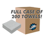 CASE ICE GREY EDGELESS THE PEARL 16 X 16 MICROFIBER TOWEL (200 COUNT) (51616-PEARL-EL-GREY-CASE)