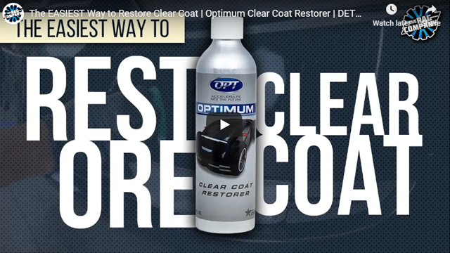 The EASIEST Way to Restore Clear Coat | Optimum Clear Coat Restorer | DETAILS WITH LEVI