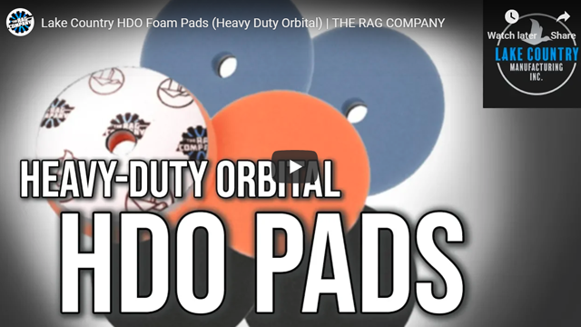 Lake Country HDO Foam Pads (Heavy Duty Orbital) | THE RAG COMPANY