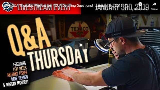 Q&A Thursday: We Answer YOUR Detailing Questions! | January 3rd, 2019 | THE RAG COMPANY