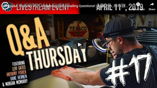 Q&A Thursday #17: Answering LIVE Detailing Questions! | April 11th, 2019 | THE RAG COMPANY