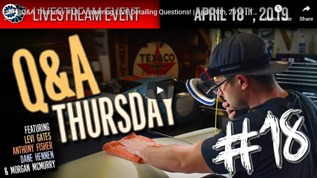 Q&A Thursday #18: Answering LIVE Detailing Questions! | April 18th, 2019 | THE RAG COMPANY