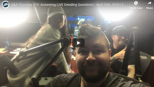 Q&A Thursday #19: Answering LIVE Detailing Questions! | April 25th, 2019 | THE RAG COMPANY