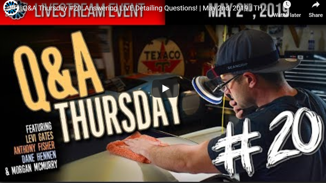 Q&A Thursday #20: Answering LIVE Detailing Questions!   May 2nd, 2019   THE RAG COMPANY