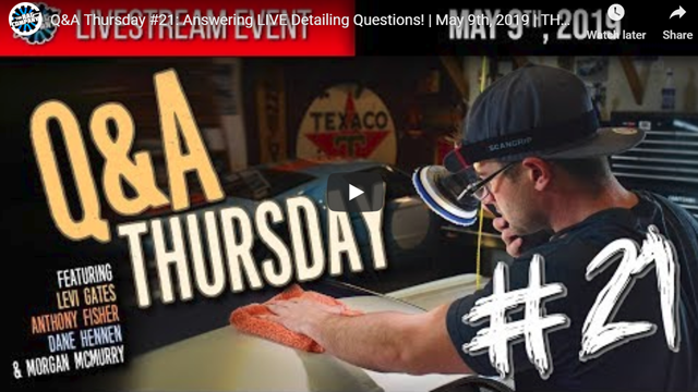 Q&A Thursday #21: Answering LIVE Detailing Questions! | May 9th, 2019 | THE RAG COMPANY