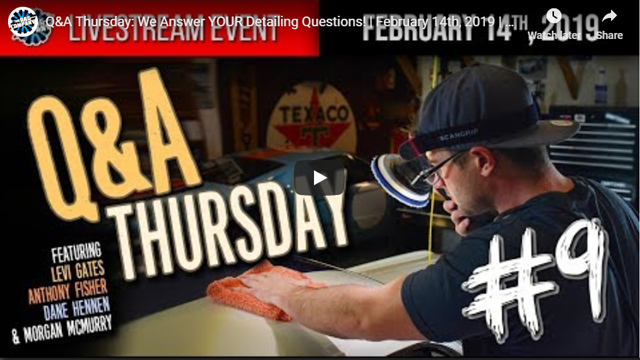 Q&A Thursday: We Answer YOUR Detailing Questions! | February 14th, 2019 | THE RAG COMPANY