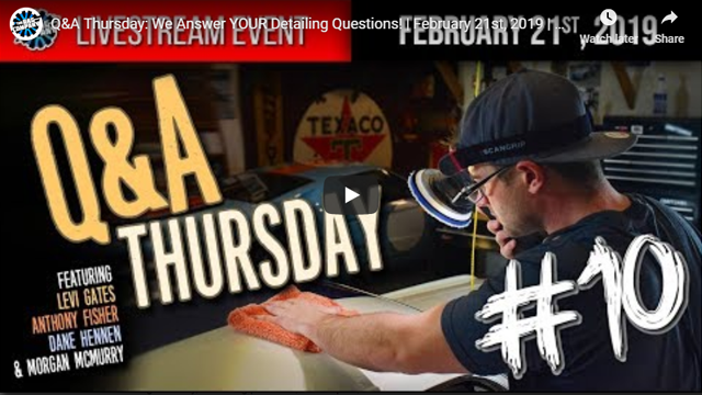 Q&A Thursday: We Answer YOUR Detailing Questions! | February 21st, 2019 | THE RAG COMPANY