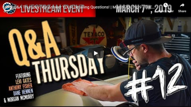 Q&A Thursday: We Answer YOUR Detailing Questions!   March 7th, 2019   THE RAG COMPANY