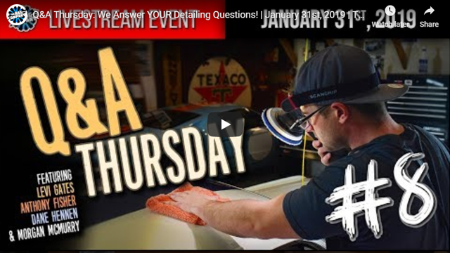 Q&A Thursday: We Answer YOUR Detailing Questions! | January 31st, 2019 | THE RAG COMPANY
