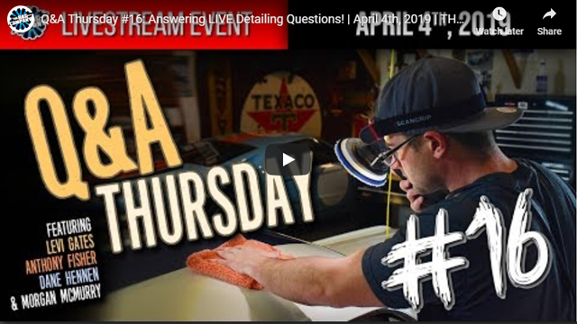 Q&A Thursday #16: Answering LIVE Detailing Questions! | April 4th, 2019 | THE RAG COMPANY