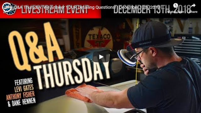 Q&A Thursday: We Answer YOUR Detailing Questions! | December 13th, 2018 | THE RAG COMPANY