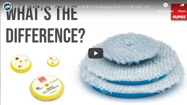 What Are The DIFFERENCES Between RUPES Polishing Pads? | THE RAG COMPANY