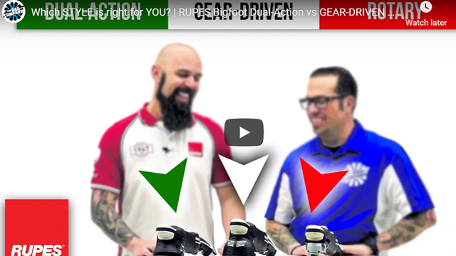 Which STYLE is right for YOU?   RUPES Bigfoot Dual-Action vs GEAR-DRIVEN Mille vs ROTARY