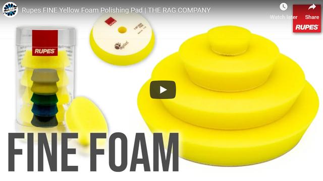 Rupes FINE Yellow Foam Polishing Pad | THE RAG COMPANY