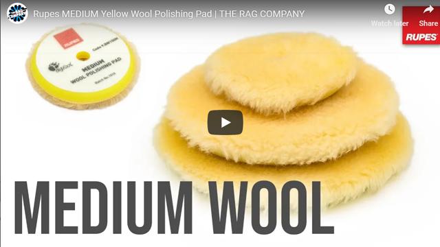 Rupes MEDIUM Yellow Wool Polishing Pad | THE RAG COMPANY
