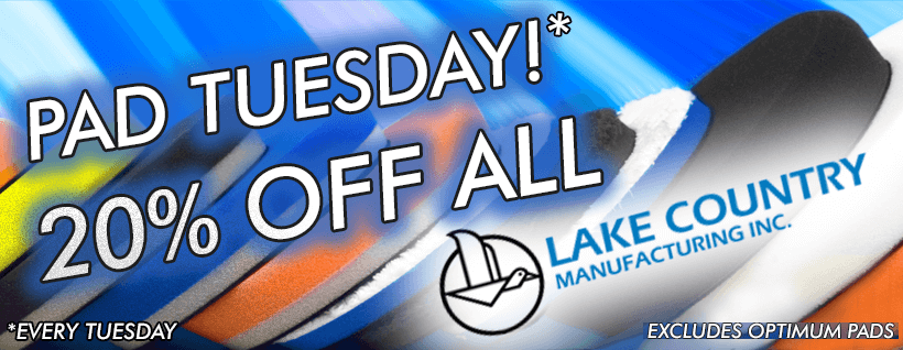 Pad Tuesday - 20% OFF ALL Lake Country Pads!