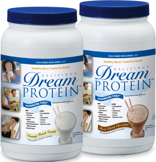 "GreensFirst Dream Protein Powder | 24oz (1.5 lbs)  Available in Rich Dutch Chocolate or Creamy French Vanilla.  Dream Protein can be taken alone, or better yet…MAKE IT A MEAL  Combine Dream Protein with Greens First and Omega-3 First to make it the Healthy Living Shake – a delicious meal replacement that's perfect anytime for those with a busy, on-the-go lifestyle. (It's also GREAT for healthy weight loss!)  Learn More About The Healthy Living Shake  Dream Protein leads the ""whey"" with its proprietary Hormone-Free, Ultra-LowTemp™ Whey Protein Isolate. We start with hormone free whey from New Zealand cows that are ""Meadow Fed"" and not given any rBGH or BST hormones!  Dream Protein is made with an Ultra-Low Temp™ process, which is beneficial because the protein is not denatured (damaged) from an extensive heat treatment. This means that you'll receive all the essential and non-essential amino acids plus naturally occurring immunoglobulins (which are necessary for proper immune function).  Dream Protein also contains a soluble fiber (FOS) that has been shown to encourage growth of favorable bacteria which help to strengthen the immune system, assist in digestion of food, as well as, to help promote regularity."