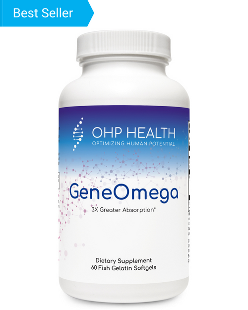 The GeneOmega family of formulas feature MaxSimil® monoglyceride fish oil that has a three times greater EPA+DHA absorption rate than an equivalent dose of other leading fish oils. Through the use of MaxSimil patented lipid absorption enhancement technology (PLATform), the fish oil is absorption-ready and can be directly assimilated in the intestinal tract for maximum benefit.*